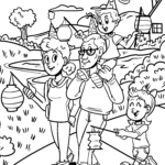 Coloring page Saint Martin