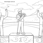Coloring page Olympic Games award ceremony