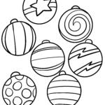 Coloring page Christmas tree balls