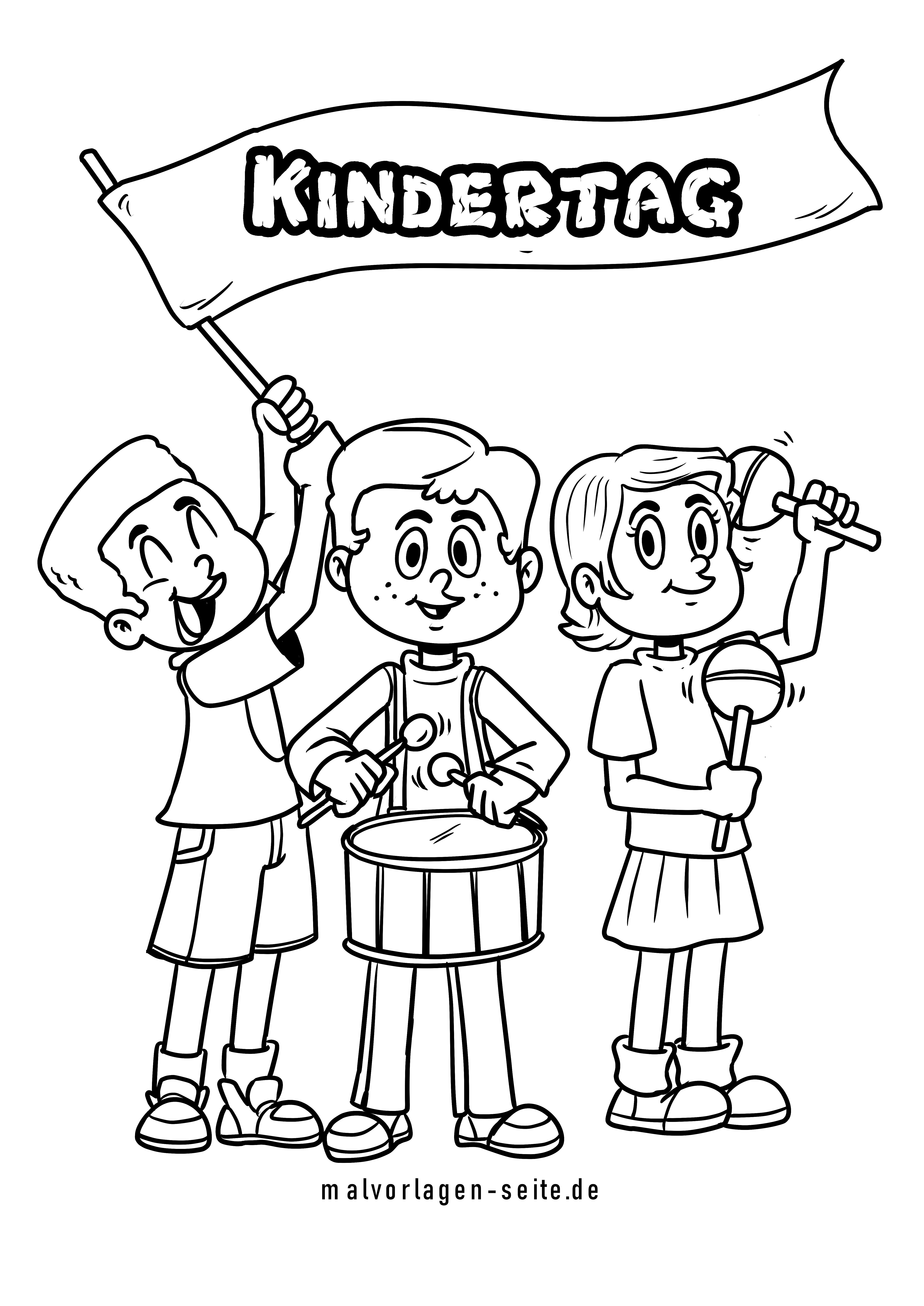 Malvorlage Kindertag   Kinder   Kostenlose Ausmalbilder