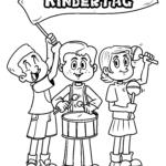 Páx para colorear Día dos nenos | nenos