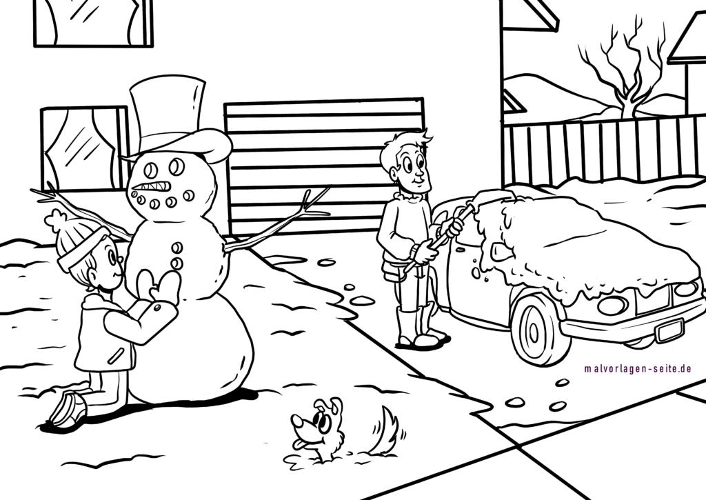 malvorlagen winter kostenlos für kinder