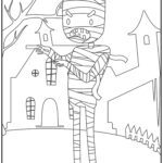 Coloring page Halloween mummy