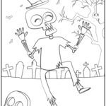 Coloring page Halloween zombie