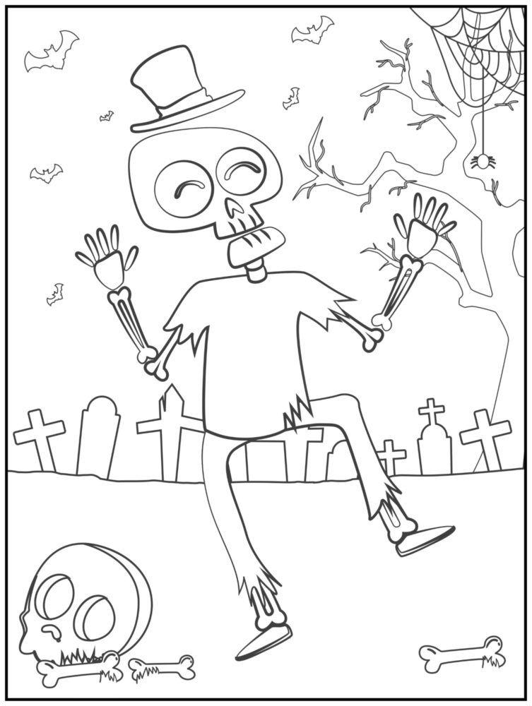 malvorlage halloween zombie - kostenlose ausmalbilder