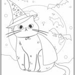 Coloring page Halloween cat