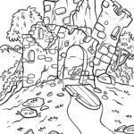 Coloring page ruin / castle ruin