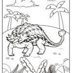 Bojanje stranice ankilosaurus dinosaur