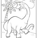 Bojanje stranice Brachiosaurus dinosaur