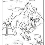 Värityssivun dinosaurukset
