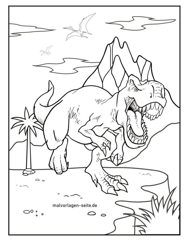 malvorlage dinosaurier  kostenlose ausmalbilder