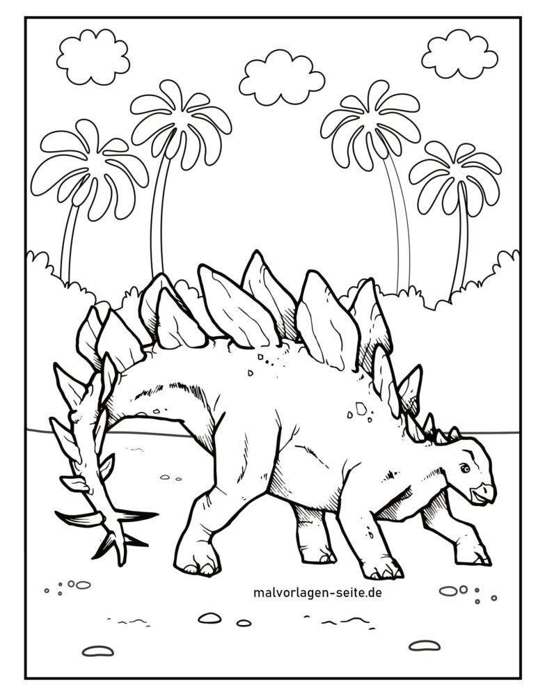 Боење страница диносаурус стегосаурус