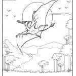 Coloriage ptérosaure