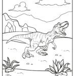Malvorlage Dinosaurier
