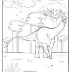 Värityskuva Brachiosaurus-dinosaurus