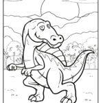 Coloriage dinosaure