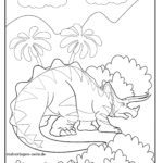 Coloring page Triceratops dinosaur