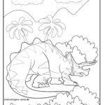 Malvorlage Triceratops