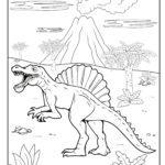 Bojanje stranice Spinosaurus dinosaurus