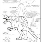 Malvorlage Spinosaurus Dinosaurier