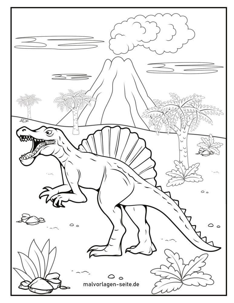 Värityskuva Spinosaurus dinosaurus