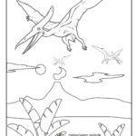 Stranica za bojanje Pteranodon pterosaur