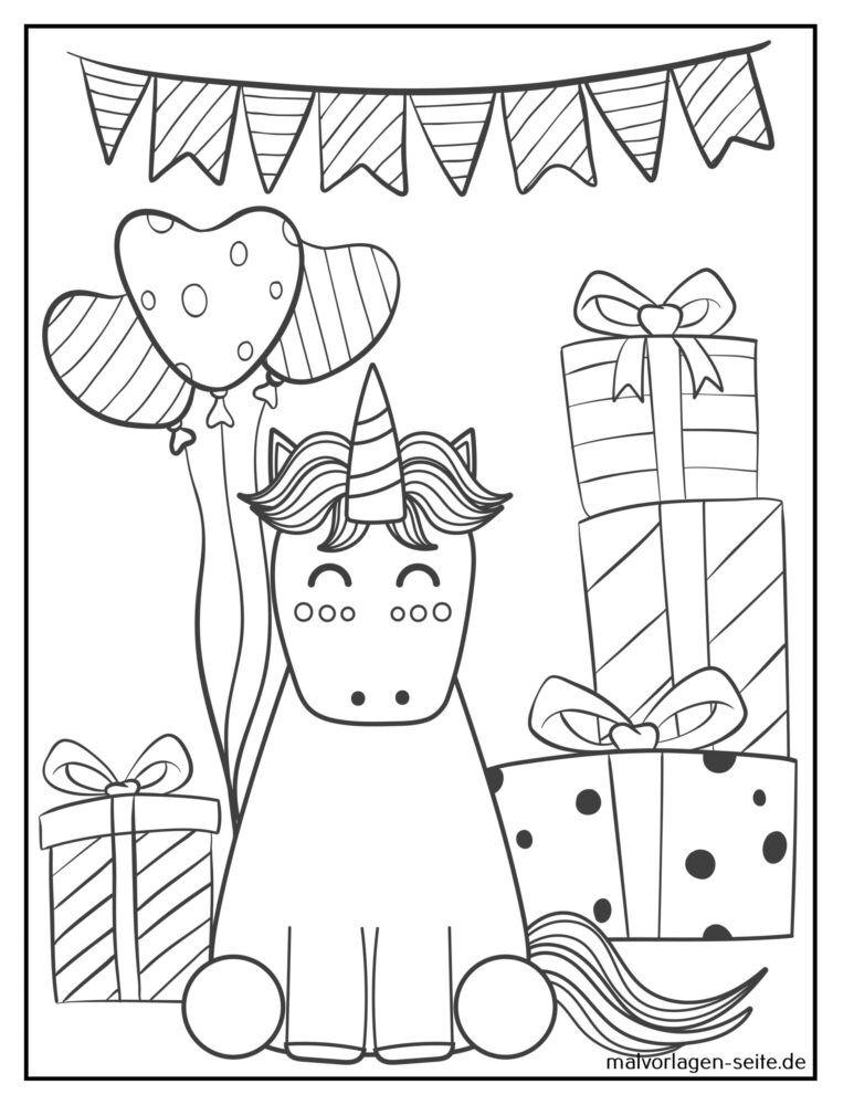 einhorn ausmalbilder pdf  einhorn malvorlage a3 coloring