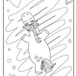 Coloring page unicorn from above