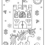 Coloring page unicorn for little kids