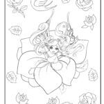 Coloring page elves and fairies