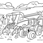 Coloring page harvest
