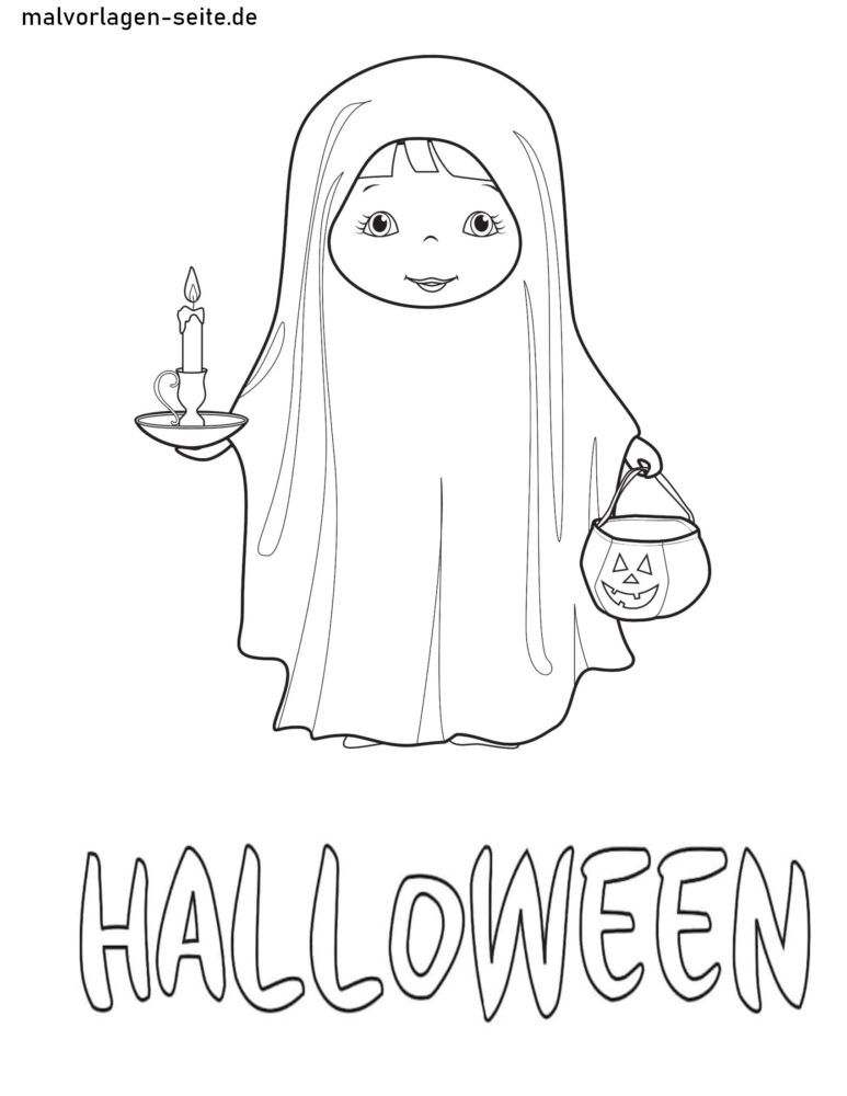 Coloring page Halloween disguise