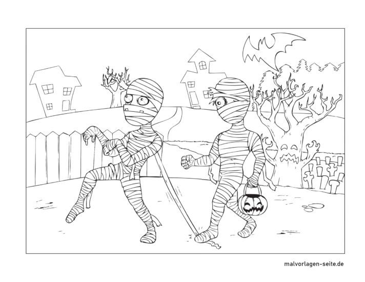 Coloring page Halloween