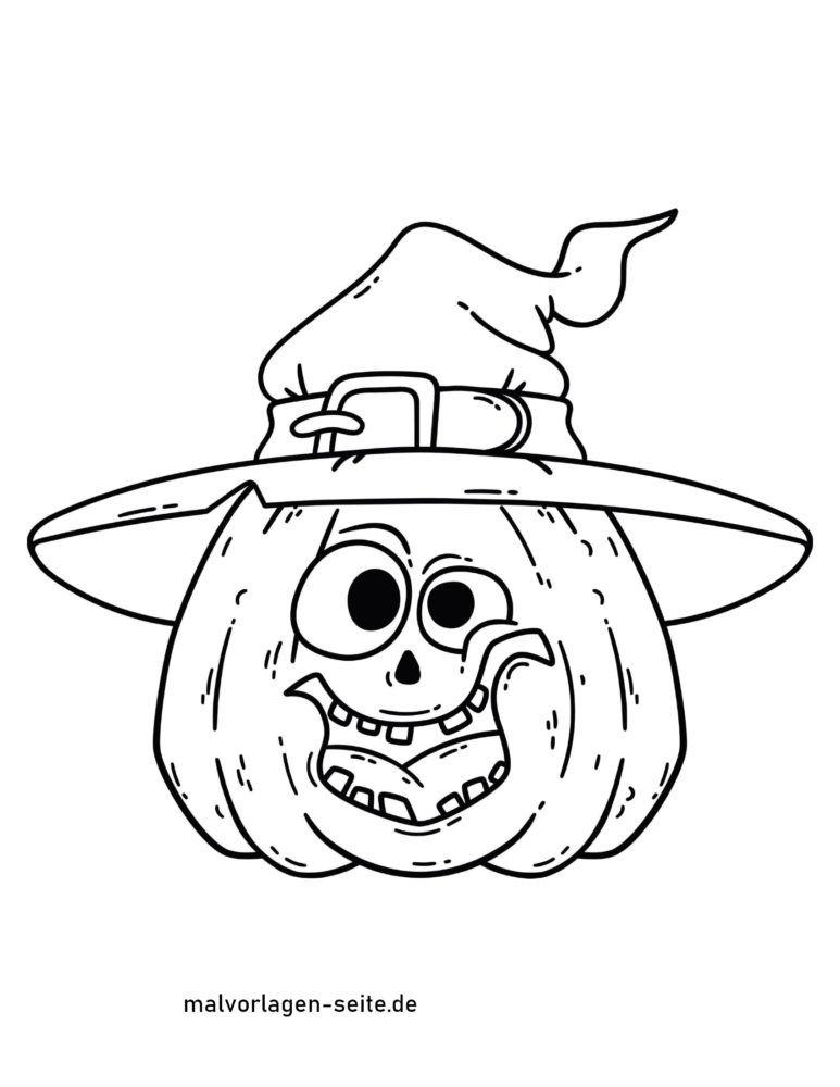 malvorlage halloween kürbis  kostenlose ausmalbilder