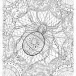 Coloring page mandala spider Halloween