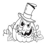 Coloring page Halloween pumpkin