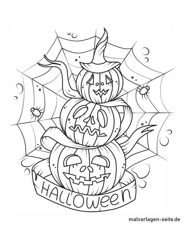 ទំព័រពណ៌ Halloween