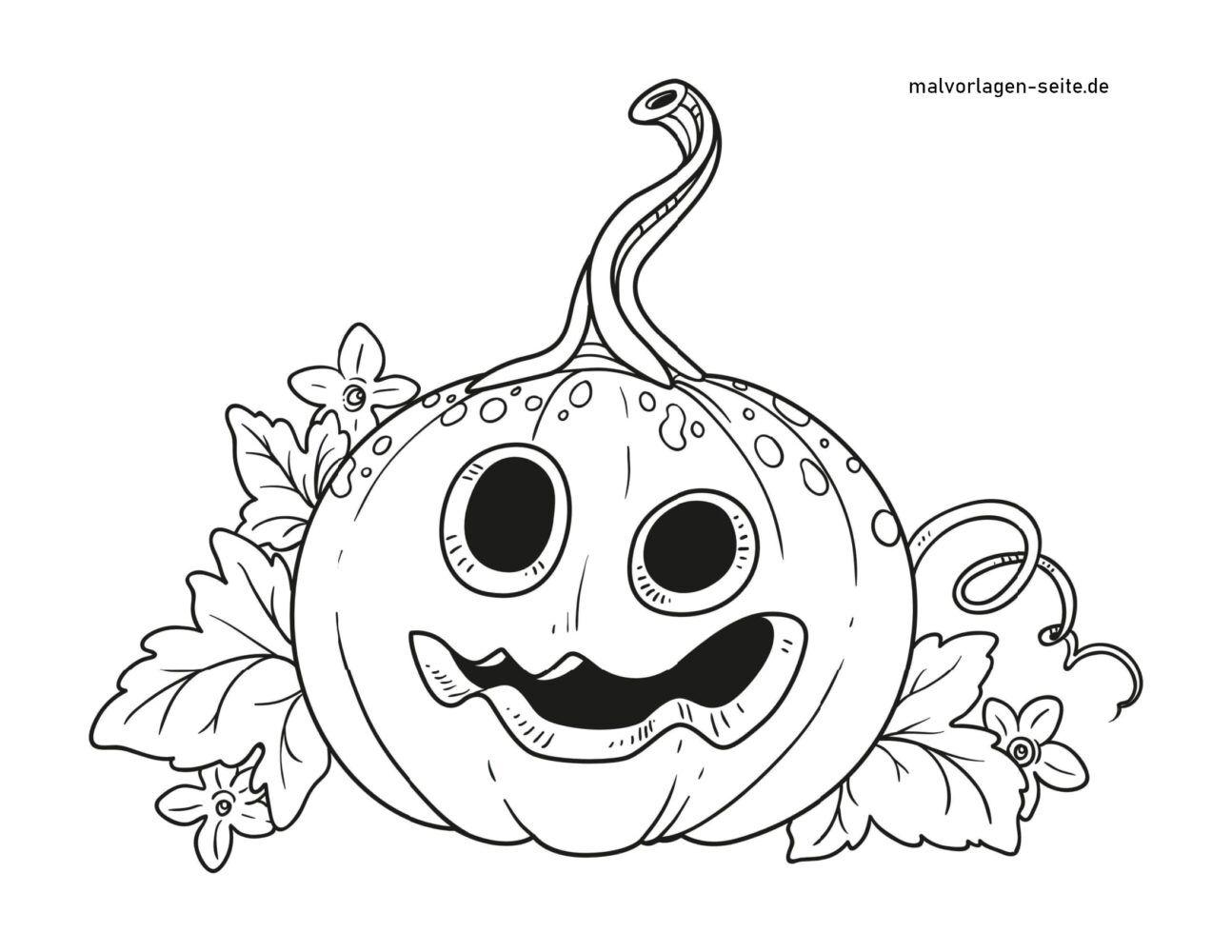 Coloring page Halloween pumpkin