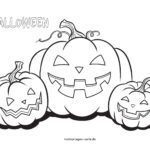 Coloring page Halloween pumpkins