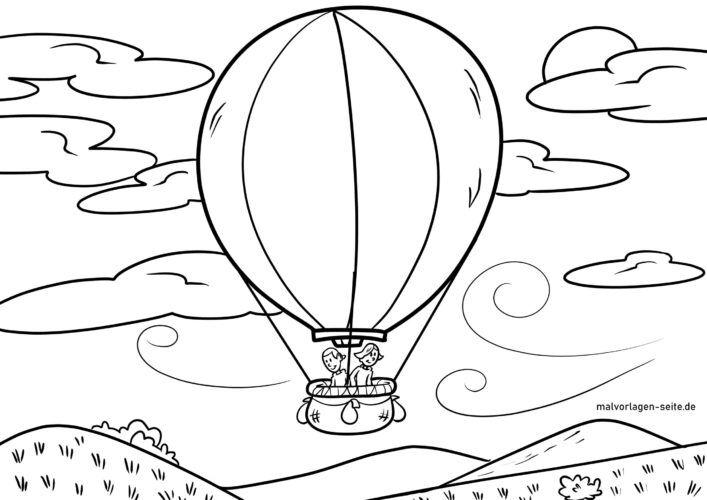 Koloreztatzen duen orrialdea globo aerostatikoaren hegaldia