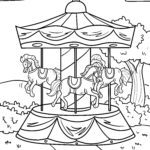 Funfair & carousels coloring pages