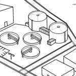 Coloring page sewage treatment plant