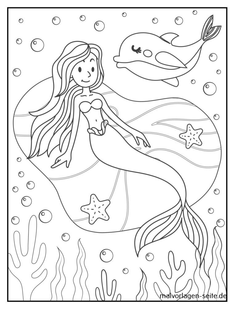 Bojanje stranice sirena
