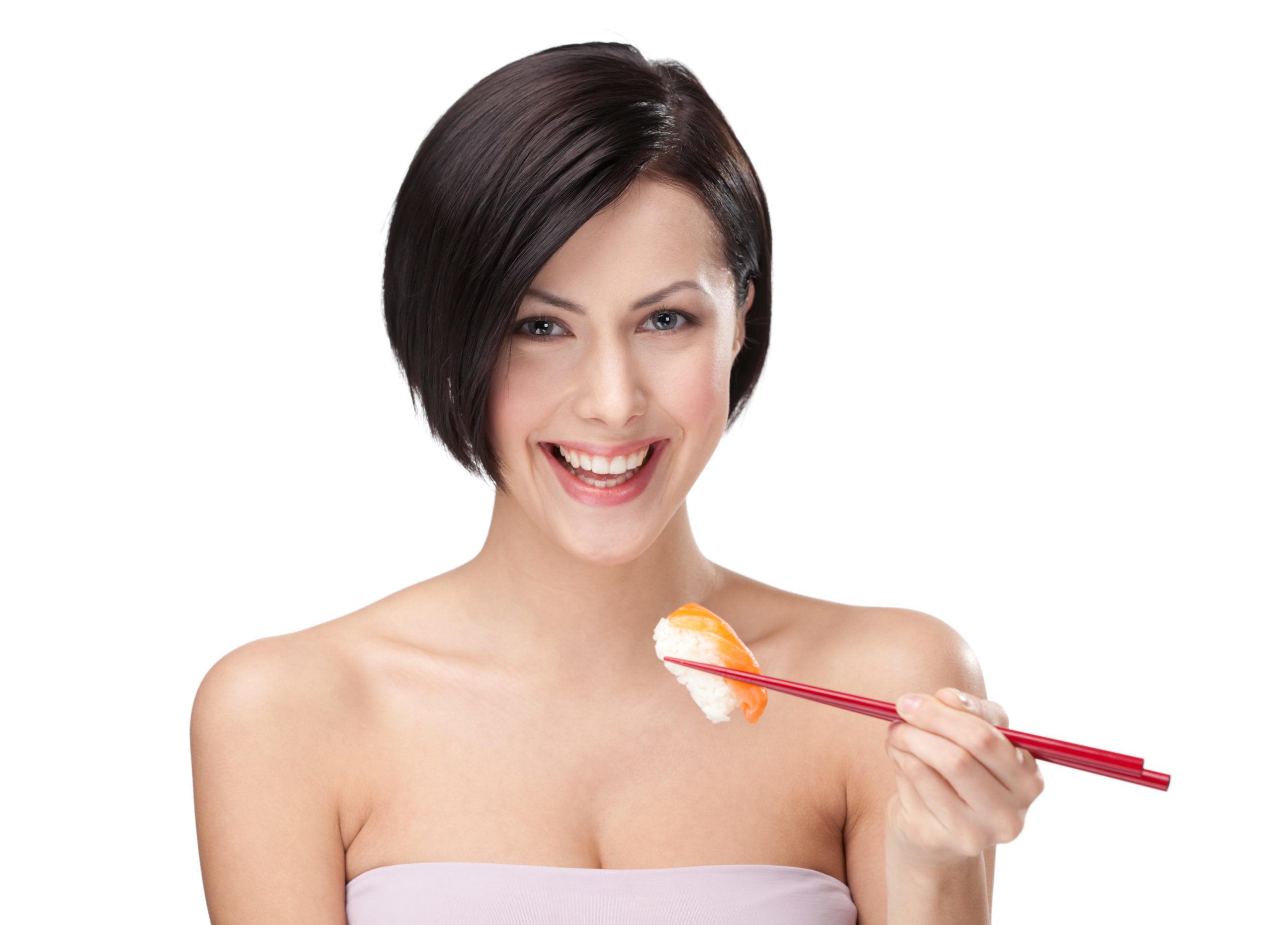 Instruksi makan dengan sumpit