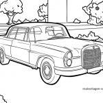Coloring page oldtimer car