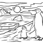 Pagine di culore da pinguini | pinguinu