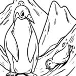 Pagine di culore da pinguini | Acelli di pinguinu