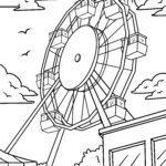 Tegninger til farvelægning pariserhjul / messe