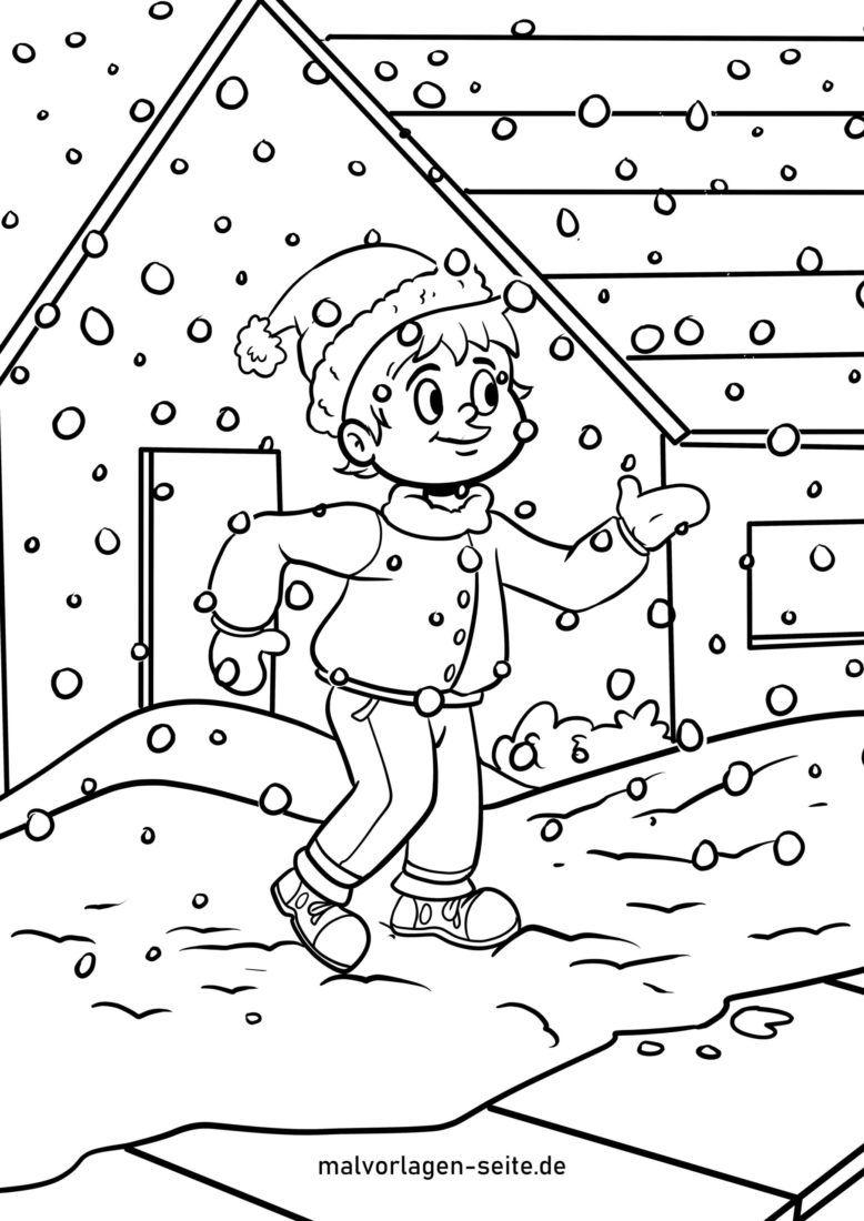Malvorlage Schneeflocken Winter Schnee Kostenlose Ausmalbilder