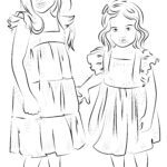 Malvorlage Schwestern | Familie
